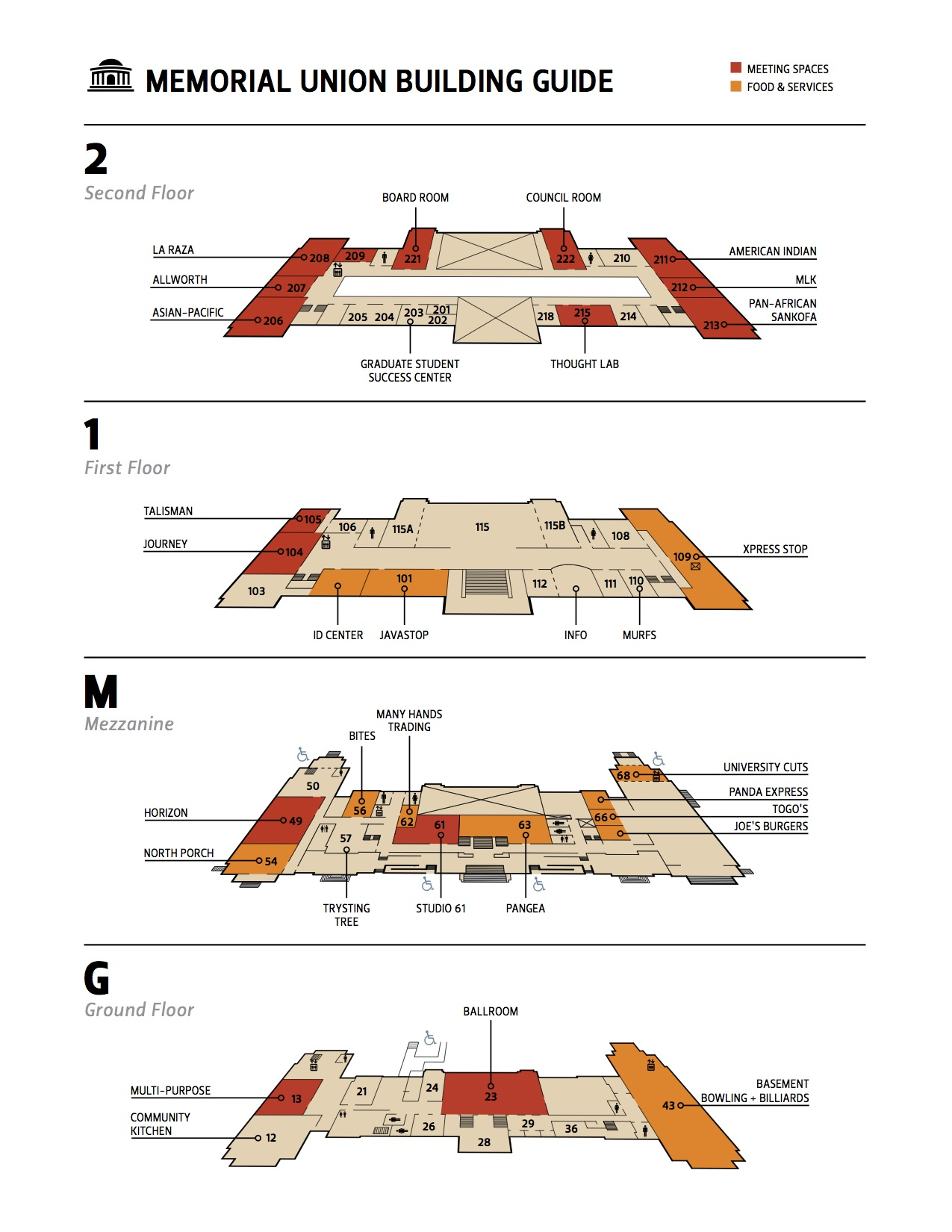 Memorial Union Floor Plan